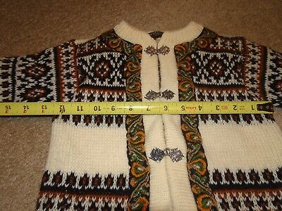 Vintage Nordstrikk Norway Woven Wool Cardigan Sweater Kid Child Toddler Unisex
