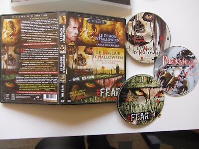 Pumpkinhead + Le masque d'Halloween + The Fear, coffret 3DVD, Horreur