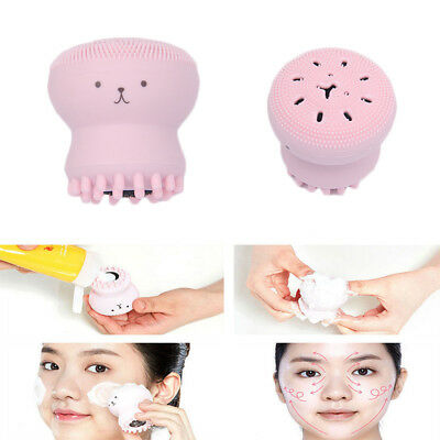 Lovely Jellyfish Silicon Wash Face Brush Washing Cleaning Beauty Tool Health