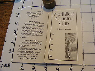 Vintage Early Paper: Unused NORTHFILD COUNTRY CLUB vt.