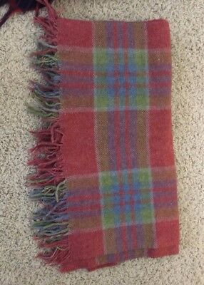 Vintage Wool Loomed Blanket 1945