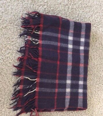 Vintage Wool Loomed Blanket 1965