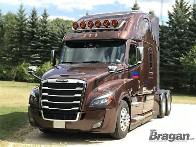 Freightliner New Cascadia Stainless Steel Tapered Roof Light Bar Big Rig Truck