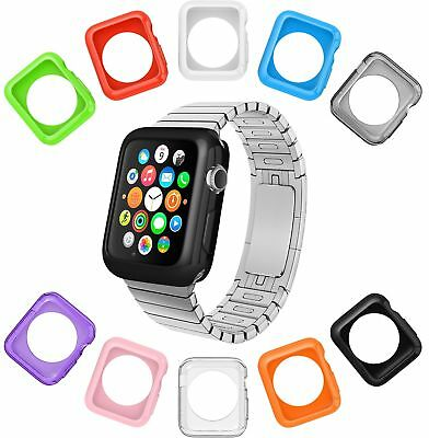 Case Watch Apple Cover 38mm Set Of 10 Soft Silicone Slim Lightweight Non Scratch