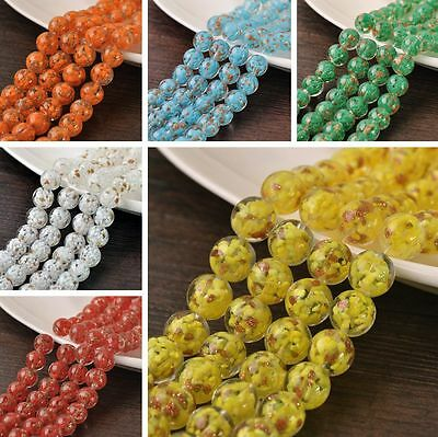 Wholesale 5/12pcs 12mm Round Lampwork Glass Loose Spacer Beads Jewelry Making