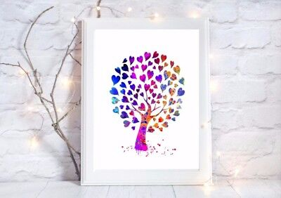 tree of love print  a4 gloss Picture unframed first dance colo