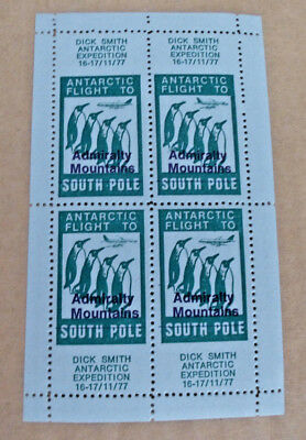 Dick Smith Antarctic Exp Flight Admiralty Mountains South Pole Cinderella Stamps