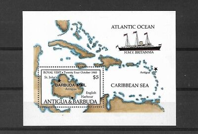 Antigua: Barbuda Ms845, 1985 Royal Visit Mini Sheet Mnh