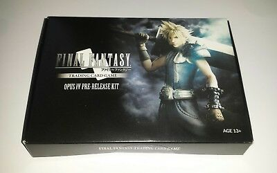 Final Fantasy TCG Opus IV RARE Pre-Release Kit 9 empty Booster + DICE, EU only!