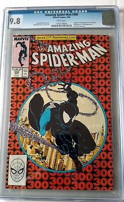 AMAZING SPIDER-MAN 300 CGC 9.8 NM/MT WHITE Pages 1st Venom MINT