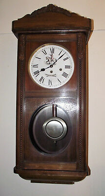 Antique German Wall Clock Westminster Chime