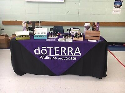 Custom Vendor Tablecloth Overlay- Doterra Essential Oils - Your Logo