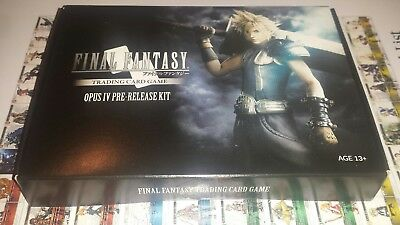 Final Fantasy TCG Opus IV Pre Release Kit 9 Booster + DICE + CLOUD Promo SEALED