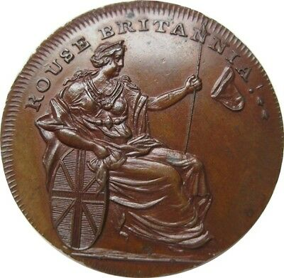 Spence Undated 18th Century Conder Token Northumberland 6 Uncirculated & Bronzed