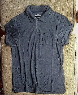 Kathmandu Mens Merino Wool Mix Polo Shirt Size 2Xl Excellent Condition