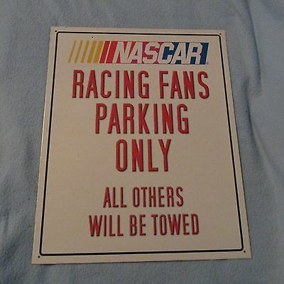 NASCAR Racing Fans Parking Only Metal Sign All Others Will Be Towed CHRISTMAS