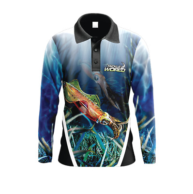 Tackle World Angler Series Squid Fishing Shirt BRAND NEW @ Ottos Tackle World