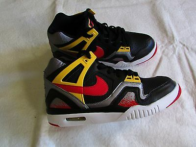 Nike Air Tech Challenge 2 Gs 654435-001 Black Red Yellow Shoes Boy's Size 6Y NEW