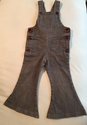 Moss and Mountain brand toddler bell bottom denim overalls 3t
