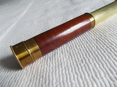 A Classy Mahogany and Brass Antique Telescope