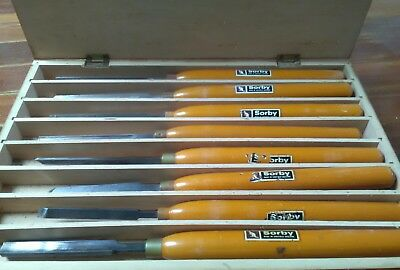 boxed sorby chisels