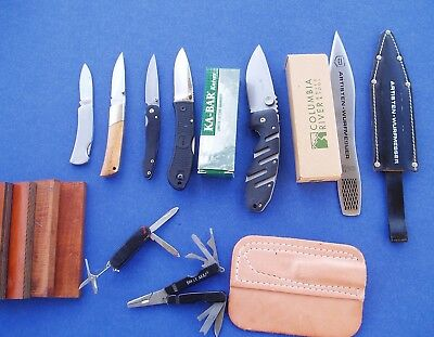 LOT of KNIVES Other Stuff NO RESERVE Kershaw-Ryan7-Majestic-Sheath-Throwing