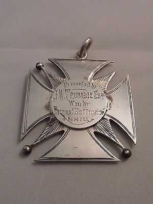 Antique Australian sterling silver Agricultural medal by McBean - Nhill 1900