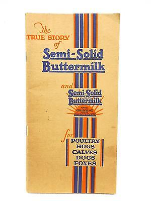 Vintage Advertising Booklet SEMI-SOLID BUTTERMILK for Livestock