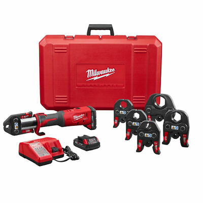 """Milwaukee 2773-22 1/2"""" - 2"""" M18 Force Logic Press Tool Kit New with 2 Batteries"""