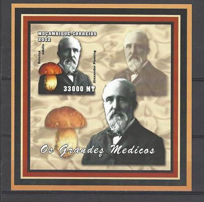 Mozambique 2002 Sir Alexander Fleming with Mushroom(Boletus Edulis) MNH S/S