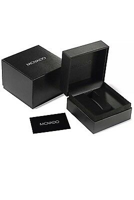 NEW Authentic MOVADO WATCH Package Display Collector Box & Warranty Booklet