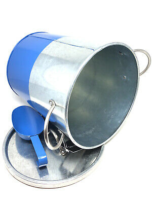 Davis & Waddell Industrial Luxe Blue Galvanised Steel Ice Bucket with Scoop