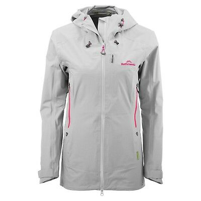 KATHMANDU Flinders Womens Hooded Water Proof Coat Rain Jacket Grey - Size 10