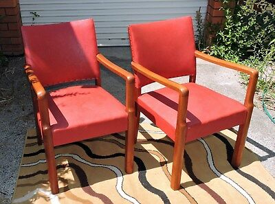 Pair of Retro Mid Century Danish Style TV Arm Chairs