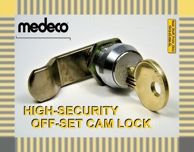 Medeco High-Security Offset-Cam Lock / Cylinder Lock With Two Factory Keys