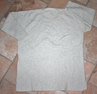 Wolle Pullover hell grau Gr. 46
