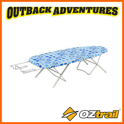 OZtrail FOLDING IRONING BOARD - FOLD IN HALF PORTABLE TRAVEL CAMP CLOTHES IRON
