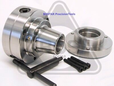 """BOSTAR  5C Collet Chuck With Semi-finished 1-3/4"""" x 8  Thread Back Plate"""