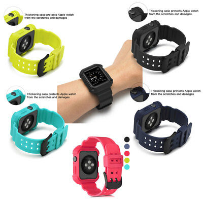 Silicone Replacement Band Wrist Sport Strap For Apple Watch 38/42mm  123 Series