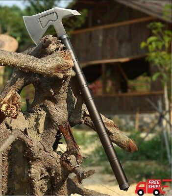 Long Tactical Axe Survival Tomahawk Army Outdoor Hunting Camping Axes Hand Tool