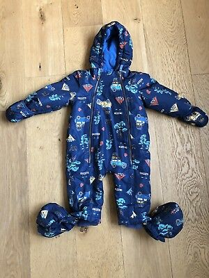 Baby Joules Snow Suit 12-18 Months With Detachable Feet