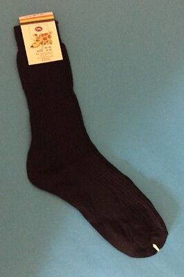 New Deadstock Vintage 1980s Black Ribbed Socks By C&A