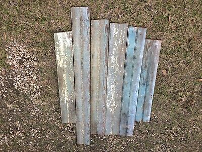 "Multicolored Painted Antique Pine 5 1/4"" Beaded Board"
