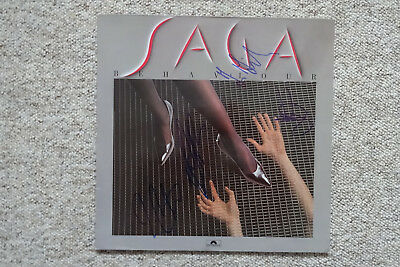 "Saga Band Autogramme signed LP-Cover ""Behaviour"" Vinyl"
