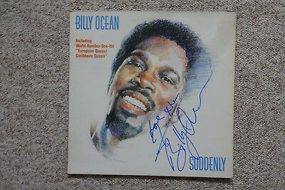 "Billy Ocean Autogramm signed LP-Cover ""Suddenly"" Vinyl"
