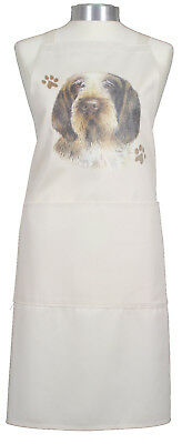 Italian Spinone Paws Breed of Dog Cotton Apron Double Pockets Baker Cook Gift