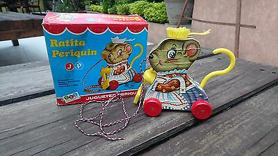 Mexican Merry Mousewife Pull Toy No Fisher Price-Mexico Juguetes Periquin Nib