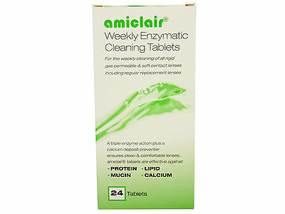 Amiclair Weekly Enzymatic Protein Remover 24 week supply Tablets Refill Pack