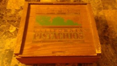 Vintage San Joaquin Valley Farms California pistachios Wooden Box