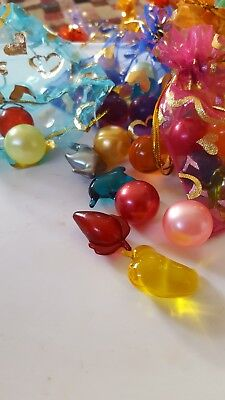 BATH OIL PEARL BEADS IN ORGANZA GIFT BAG x 10 Mixed Shapes